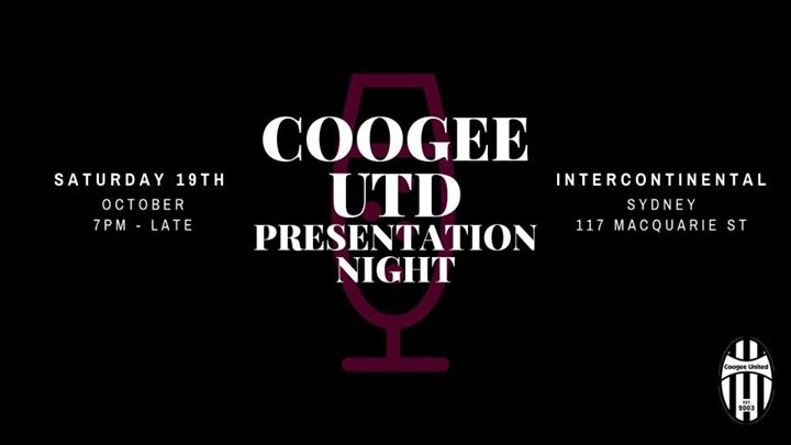 Coogee United Presentation Evening 2019