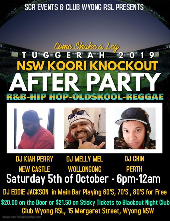 NSW Koori Knockout Afterparty at Blackout Aboriginal Nightclub