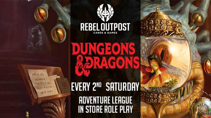 D&D In Store Adventure League at Rebel Outpost
