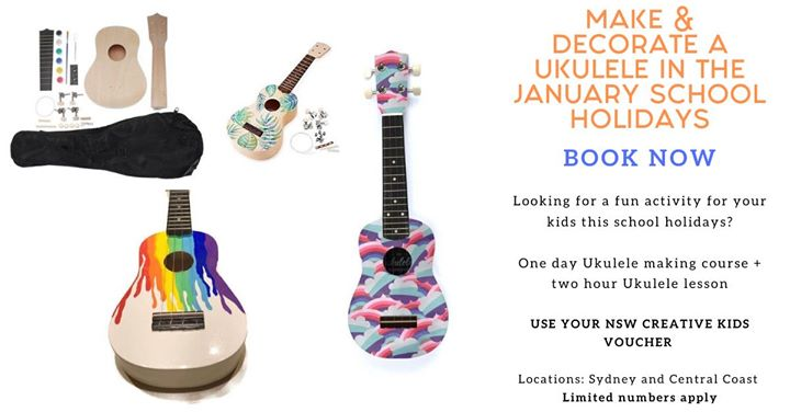 Make and Decorate Your own Ukulele with a two hour music lesson