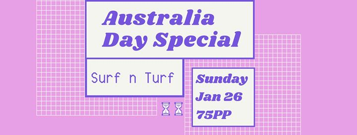 Australia Day Surf n Turf